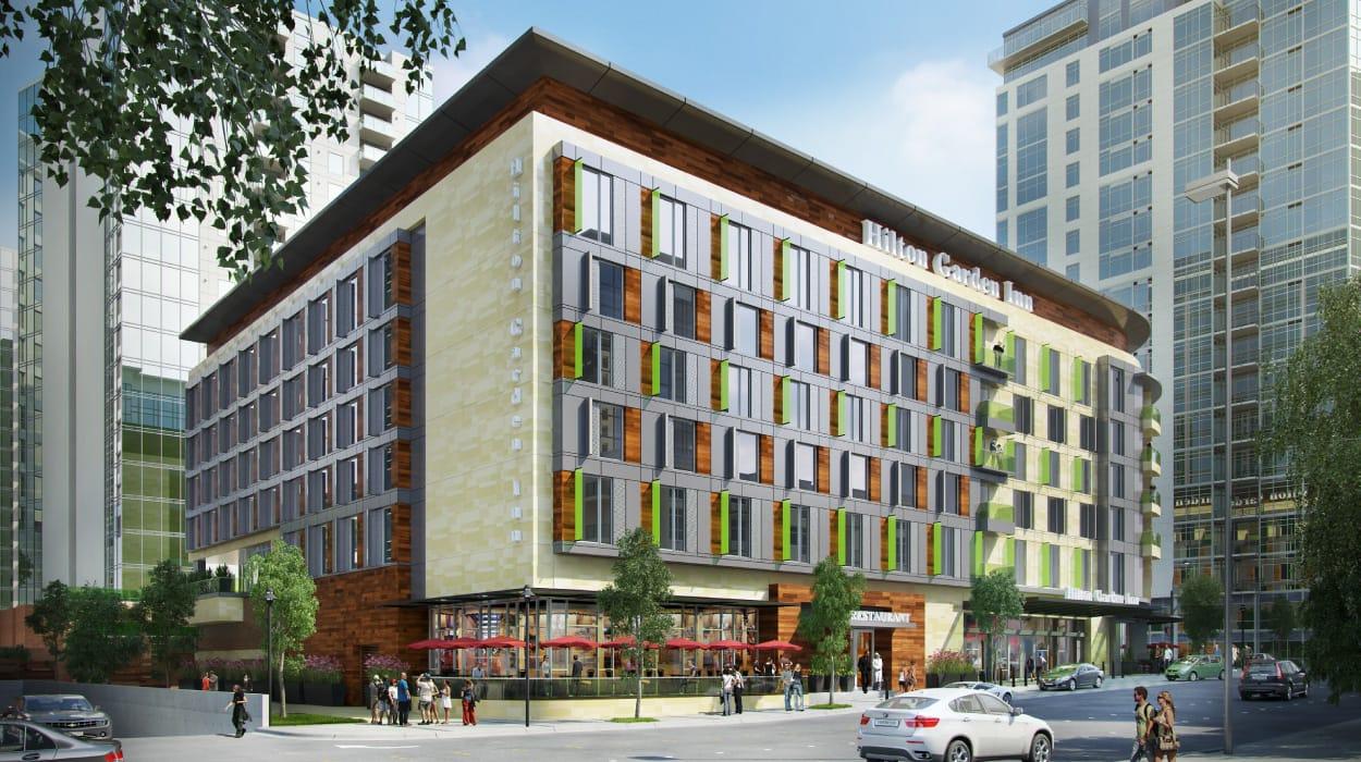 Hilton Garden Inn Progress Jensen Fey Architects Redmond Wa