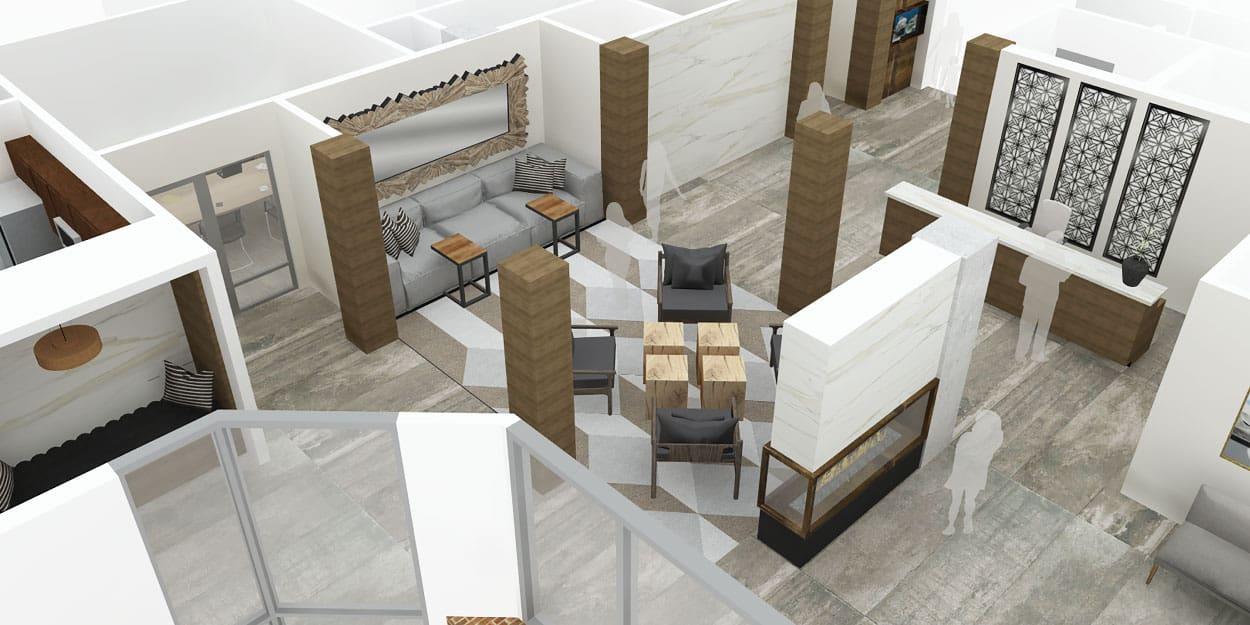 Bellevue Pacific Tower · Interiors